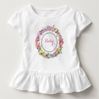 Monogrammed Baby Ruffled Dress