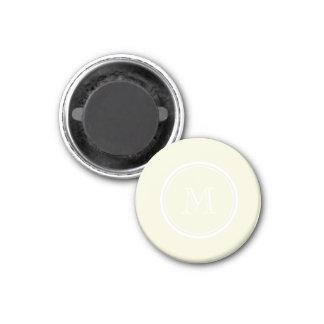 Monogrammed Beige High End Colored Refrigerator Magnet