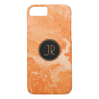 Monogrammed Beige Marble Texture Print iPhone 8/7 Case