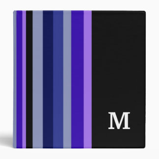 Monogrammed Binder ::Purple Stripes