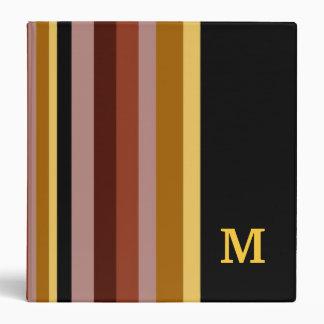 Monogrammed Binder ::Stripes