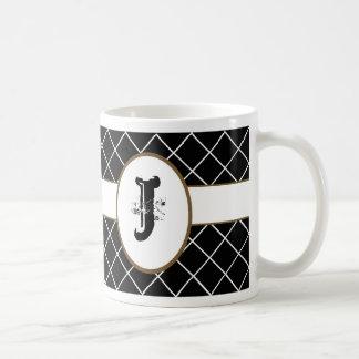 Monogrammed Black Diamond Coffee Mug