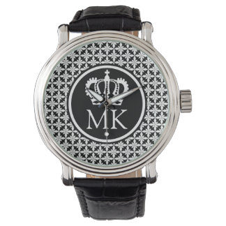 Monogrammed Black Polycross Big Boss Watch