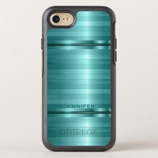 Monogrammed Blue Stripes OtterBox Symmetry iPhone 7 Case