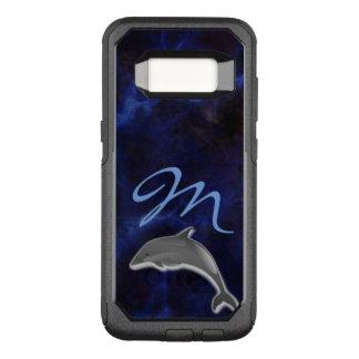 Monogrammed Blue wonder Dolphin OtterBox Commuter Samsung Galaxy S8 Case