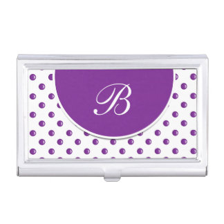 Monogrammed Business Card Case