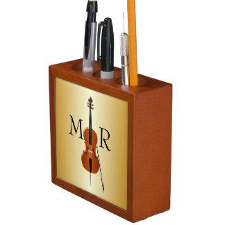 Monogrammed Cello Desk Organizer