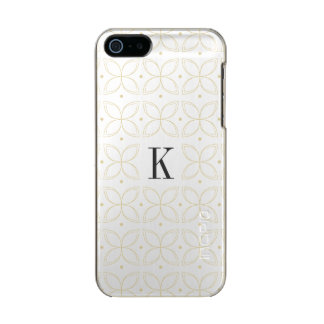 Monogrammed classic gold pattern iPhone case