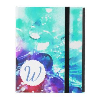 Monogrammed Color Splash iPad Case