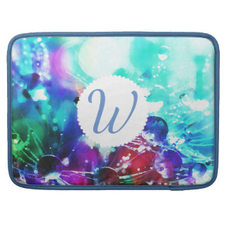 Monogrammed Color Splash MacBook Sleeve