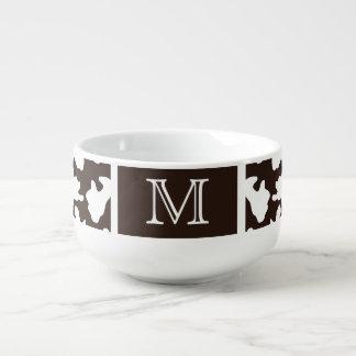 Monogrammed Cow Print Soup Mug
