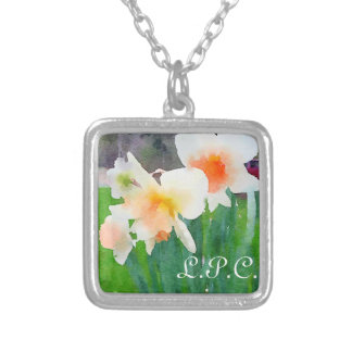 monogrammed daffodil necklace