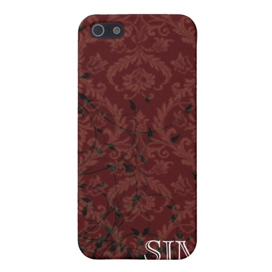 Monogrammed Damask Speck iphone Case