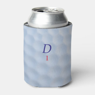 Monogrammed Dimpled Golf Ball Can Cooler