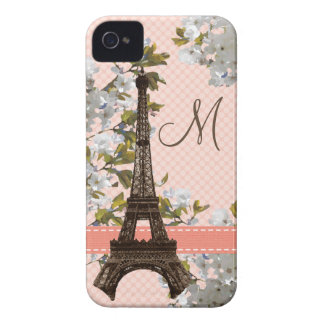 Monogrammed Eiffel Tower iPhone 4 Case Mate Barely