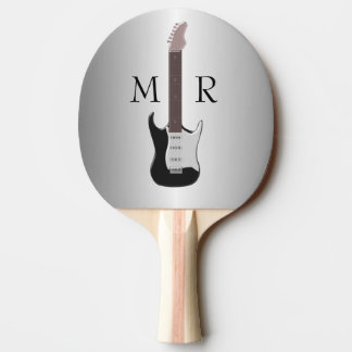 Monogrammed Electric Guitar Ping Pong Paddle