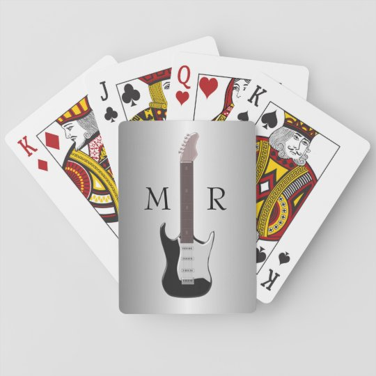 Monogrammed Electric Guitar Poker Deck