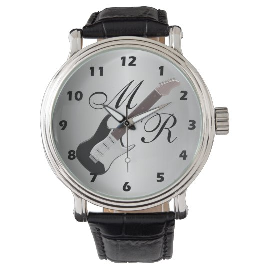 Monogrammed Electric Guitar Watches
