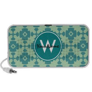 Monogrammed Elegant Modern Classy Retro Portable Speakers