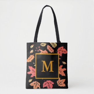 Monogrammed Fall Tote