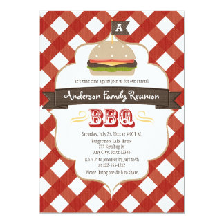 MONOGRAMMED FAMILY REUNION BBQ CARD