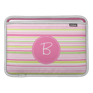 Monogrammed Fashion Zebra Print Sleeve For MacBook Air