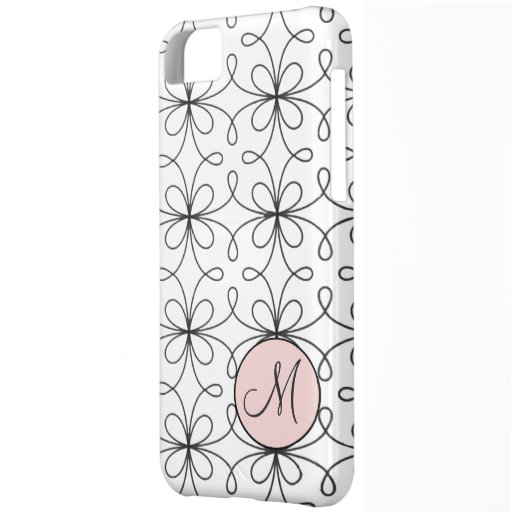 Monogrammed Fifties French Loop Pattern Cover For iPhone 5C