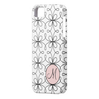 Monogrammed Fifties French Loop Pattern iPhone 5 Cover