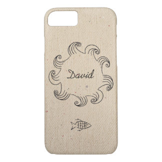 Monogrammed Fishing Ocean Hobby Case-Mate iPhone Case
