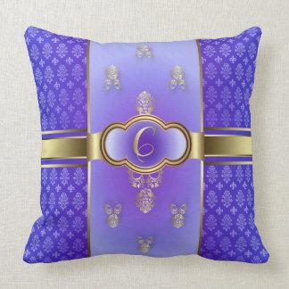 Monogrammed Flemish C Light Purple Pillows