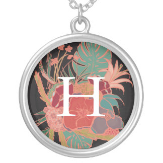 Monogrammed Floral Bohemian Vintage Necklace