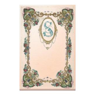 Monogrammed frame custom stationery