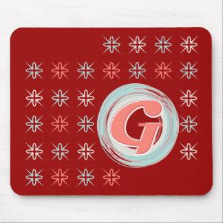 "Monogrammed ""G"" Mousepad"
