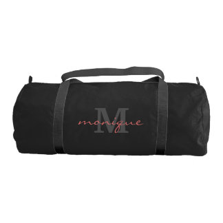 Monogrammed - Git Fit - Pink Text (Customizable) Gym Bag