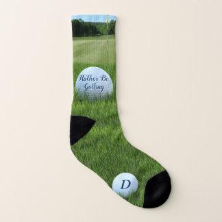 Monogrammed Golf Ball Rather Be Golfing Socks