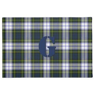Monogrammed Gordon Dress Plaid Door Mat