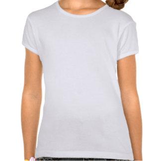 Monogrammed grey chevrons turquoise stripe tee shirt