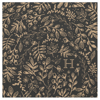 Monogrammed | Harvest Flowers Fabric