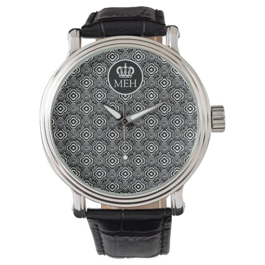 Monogrammed HS Royal Black Peddler Watch