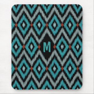 Monogrammed Ikat Pattern D Mouse Pad