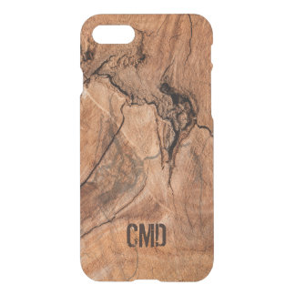 Monogrammed Imitation Wood With Knots iPhone 7 Case