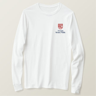 Monogrammed Initials Notary Public Arizona Embroidered Long Sleeve T-Shirt