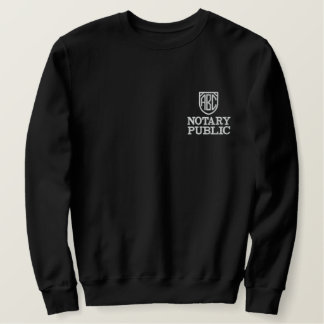 Monogrammed Initials Notary Public Customized Embroidered Sweatshirt