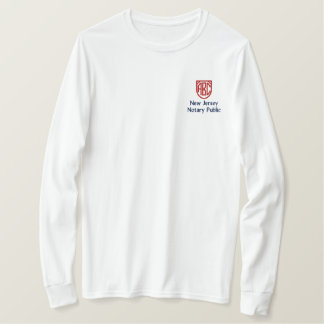 Monogrammed Initials Notary Public New Jersey Embroidered Long Sleeve T-Shirt