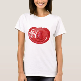 Monogrammed Initials Rose Floral T Shirt