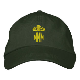 Monogrammed initials with crown embroidered hat