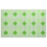 Monogrammed Kelly Green Quatrefoil Pattern Fabric