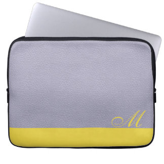 Monogrammed Lavender Lemon Laptop Sleeve