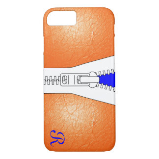 Monogrammed Leather Jacket Look iPhone 7 Case