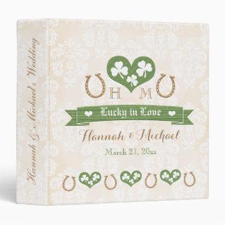 Monogrammed Lucky in Love Shamrock Wedding Planner Vinyl Binder